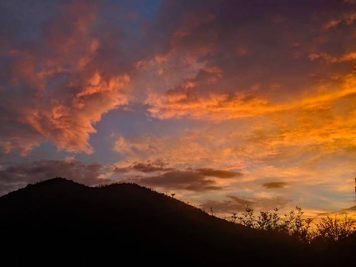 Desert sunset.