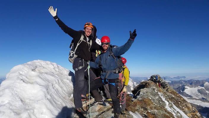 Climbers on Matterhorn summit