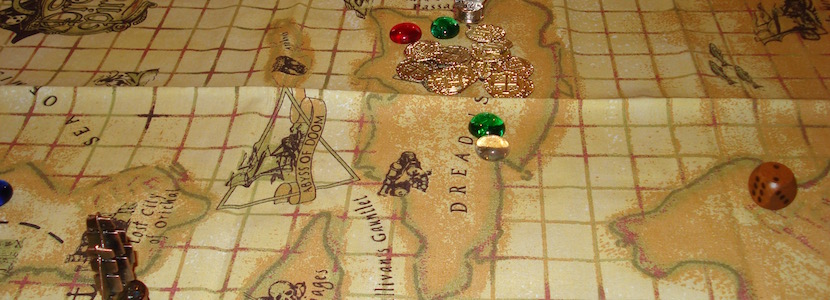 fake pirate map and fake treasure