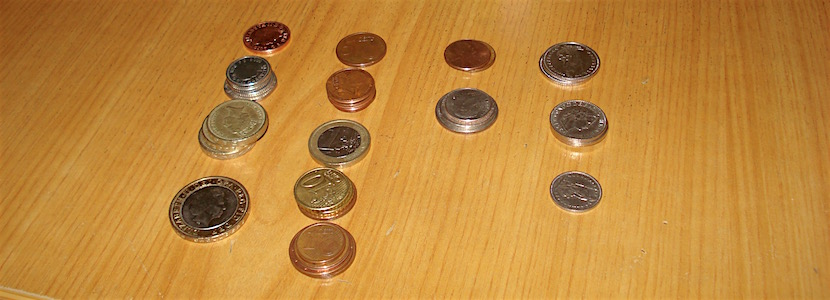 coins of different international currencies