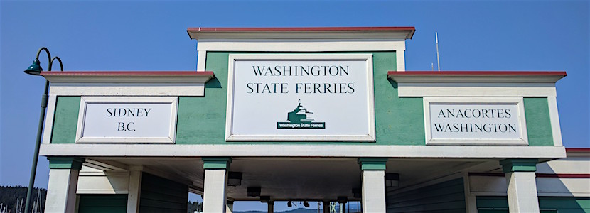 Washington State Ferry terminal signage
