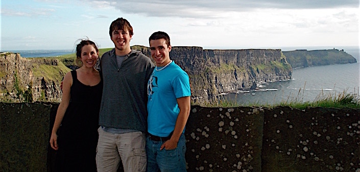 Me and two guys at the Cliffs of Moher, Ireland.