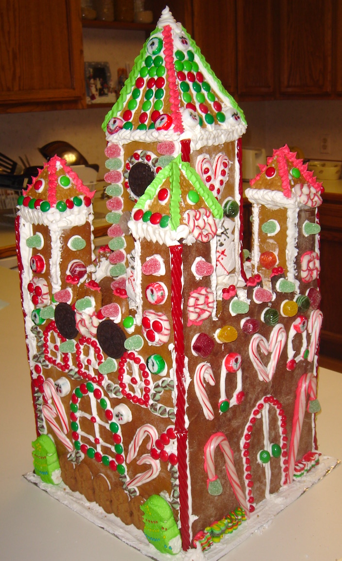 Finished gingerbread castle!