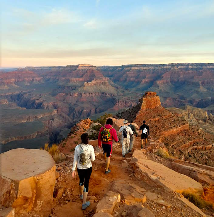 hikers in grand canyon