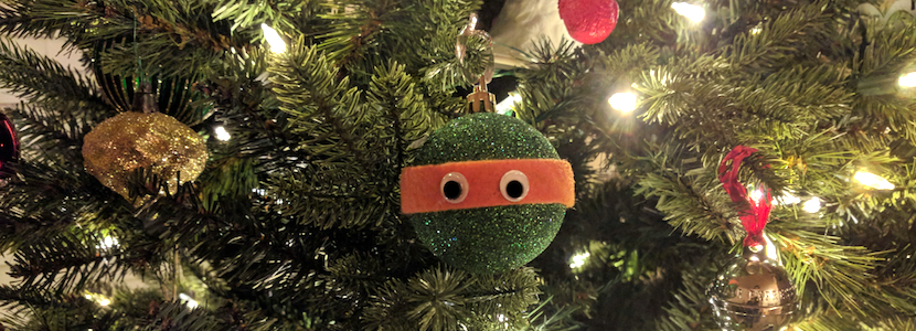 homemade ninja turtle ornament