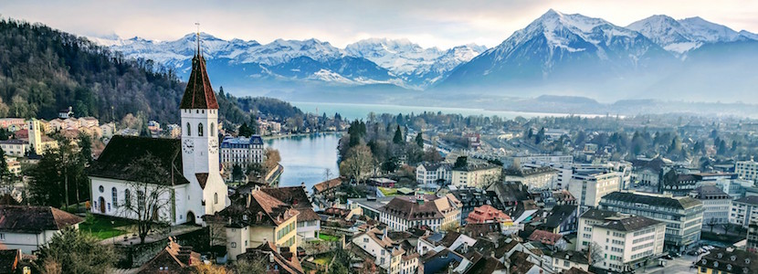 View of Thun from the castle