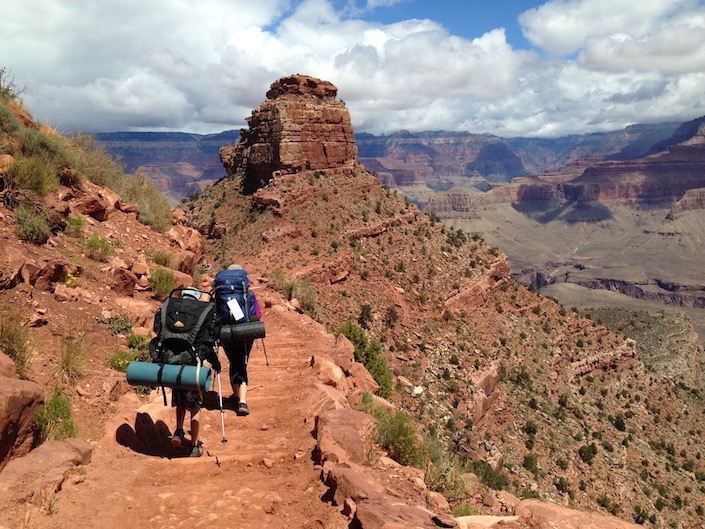 mom and tween backpacking grand canyon